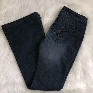 Indigo Rein Dark Wash  Slim Flare Jeans Size 3